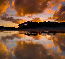 Sunset at Rarawa Beach, Northland by Paul Mercer
