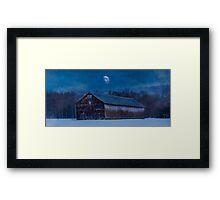 Tobaco Barn in Winter Framed Print