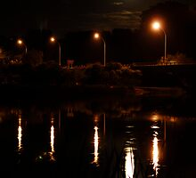 Wairoa river at night by Paul Mercer