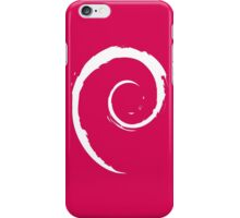 Debian White iPhone Case/Skin