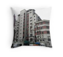 French Police Station (R) & New Chung Wei Bank (L) - Shanghai, China Throw Pillow