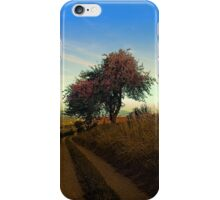Hiking trail, tree and summer morning | landscape photography iPhone Case/Skin
