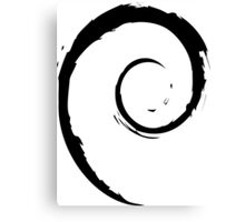 Debian Black Canvas Print