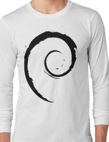 Debian Black Long Sleeve T-Shirt