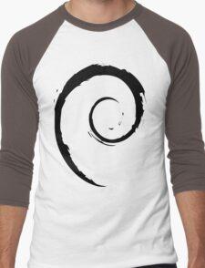 Debian Black Men's Baseball ¾ T-Shirt