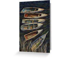 Fishing boats on Lake Titicaca, Peru Greeting Card