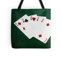 Poker Hands - Straight - Six To Two Tote Bag
