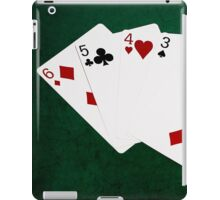 Poker Hands - Straight - Six To Two iPad Case/Skin