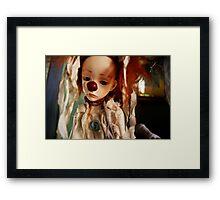 Sad Little Clown Framed Print