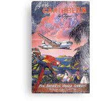 Fly Caribbean Vintage Canvas Print