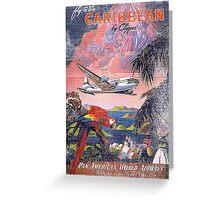 Fly Caribbean Vintage Greeting Card