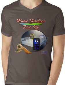 Music Machine Face Off Mens V-Neck T-Shirt