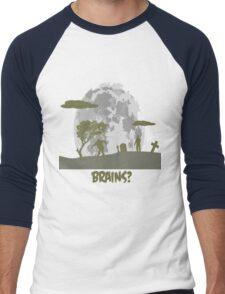 Brains? Men's Baseball ¾ T-Shirt