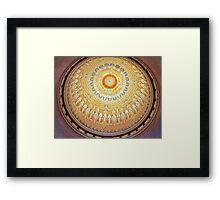 Inside Dome at War Memorial Framed Print