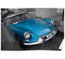 Citroen DS in Montmartre, Paris Poster
