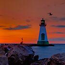 Port Dalhousie Lighthouse by (Tallow) Dave  Van de Laar