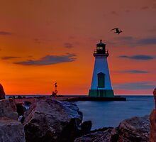 Port Dalhousie Lighthouse by (Tallow) Dave  Van de Laar