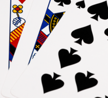 Poker Hands - Straight - Ace To Ten Sticker