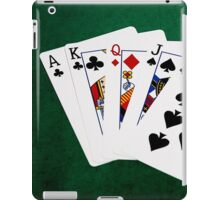 Poker Hands - Straight - Ace To Ten iPad Case/Skin
