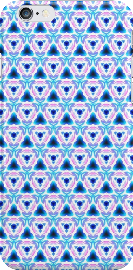 Tri-Blue - iPhone/iPod Case by Bryan Freeman