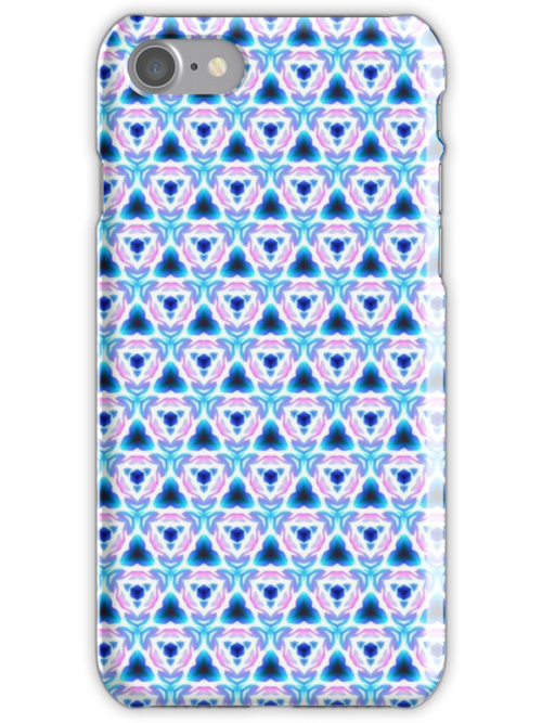 Tri-Blue - iPhone/iPod Case by Bryan Freeman