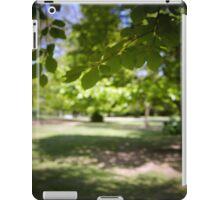 Sunlit tree in wood iPad Case/Skin