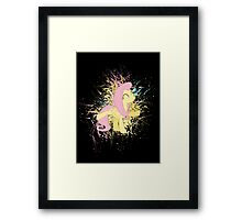 Fluttershy Paint Splatter Framed Print