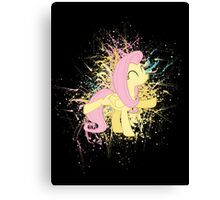Fluttershy Paint Splatter Canvas Print