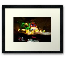 Have a blurry Christmas Framed Print