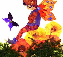 Fairy with Butterfly by janice fife