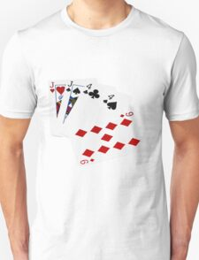 Poker Hands - Two Pair - Jack, Four T-Shirt