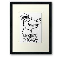 Unicorns on drugs Framed Print