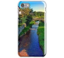 A river, a bridge and lots of green | waterscape photography iPhone Case/Skin
