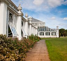 Glasshouses at Kew Gardens UK by DonDavisUK