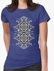 Geometric Mono Star Womens Fitted T-Shirt
