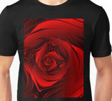 Red Fractal Rose T Unisex T-Shirt