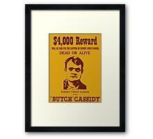 Butch Cassidy Framed Print