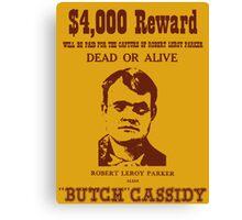 Butch Cassidy Canvas Print
