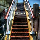 Pier Stairway Needs Paint by Mark Waugh
