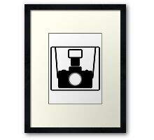Camera SLR Flash with straps Framed Print