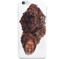 morgan freeman weed head iPhone Case/Skin