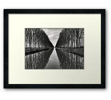 Vanishing into the infinite Framed Print