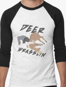 Deer Wrasslin' Men's Baseball ¾ T-Shirt