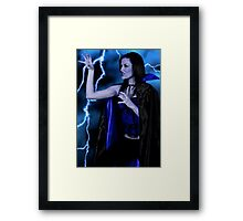 Into the dark side. Framed Print