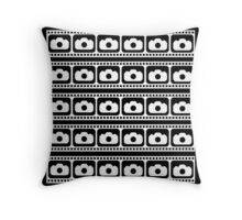 35mm Flim strips graphic Throw Pillow