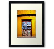 Door to Nowhere Framed Print