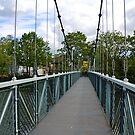 Suspension Bridge over the River Exe by lynn carter