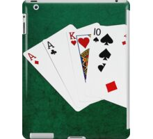 Poker Hands - One Pair - Aces iPad Case/Skin