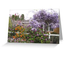 Garden down the road at Toowoomba,Qld.Australia Greeting Card