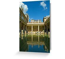 Roman Baths, Bath, England Greeting Card